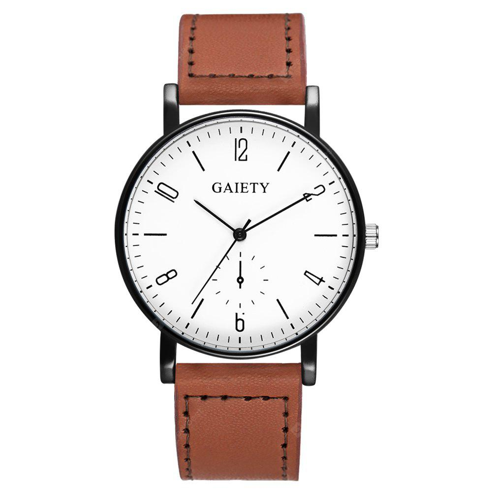 GAIETY G457 Men's Leather Fashion Watch