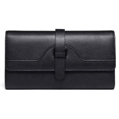 STIYA Leather Long Ladies Wallet Purse with Buckle Large Bifold Credit Card Holders