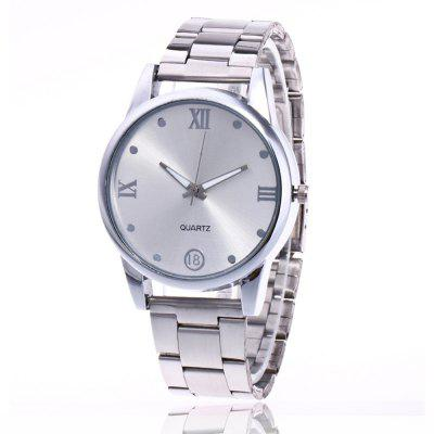 Simple Art Men and Women Watch Steel Strap Business Watch with Gift Box