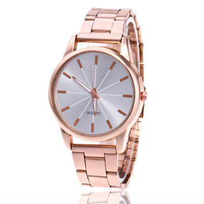Classic Art Men and Women Watch Steel Strap Business Watch with Gift Box