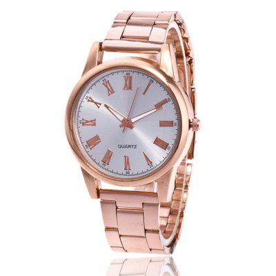 New Men and Women Watch Steel Strap Simple Business Quartz Watch with Gift Box