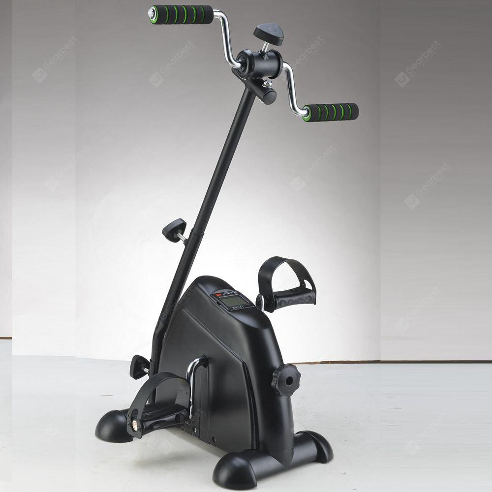 Mini Pedal Exerciser with Adjustable Handle Cycle BLACK