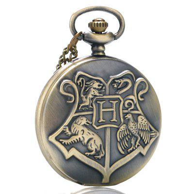 Buy REEBONZ Steampunk Vintage H Quartz Pocket Watch Necklace Pendant COPPER COLOR for $8.79 in GearBest store