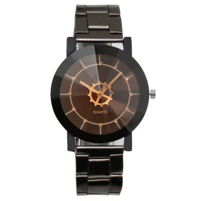 REEBONZ Vintage Gun Black Gear Quartz Man Watch