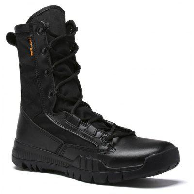 Autumn and Winter Cattle Fiber Stitching Rubber Bottom Men'S Army Boots