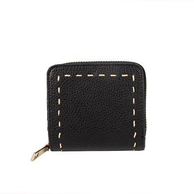 Short Retro Personality Embroidery Zipper Wild Wallet