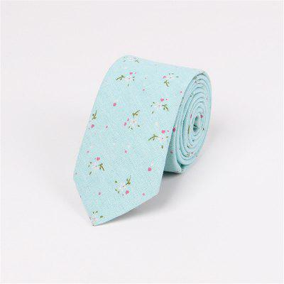 Floral Men'S Casual Fashion 65CM Cotton Skinny Tie