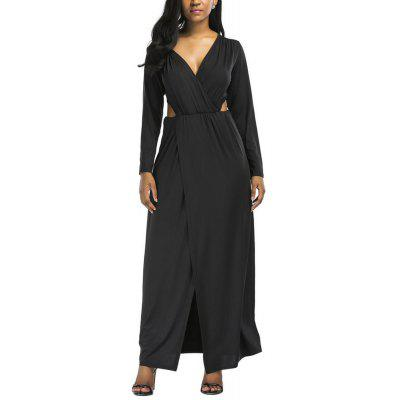 Fashion Hollowed Out Sexy V Collar Dresses