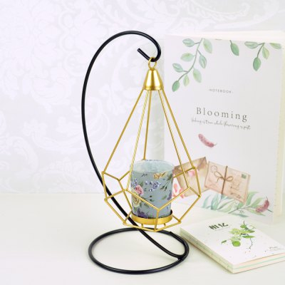 Flower Horse Time European Iron Art Hanging Candle Holder Wind Lamp Simple Classic American Style Home Decoration Candle