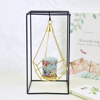 Flower Horse Time European Iron Art Hung Candle Holder Wind Lamp Simple Fashion House Decorative Candle Lamp