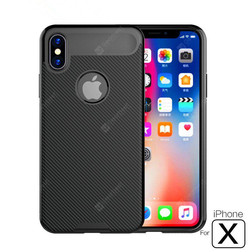 Soft TPU Anti-Scratch Shockproof Back Ultra Cover para IPhone X Case