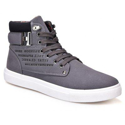 RM862 Men's Sneakers Vintage Letter Themed High Top Lightweight Shoes