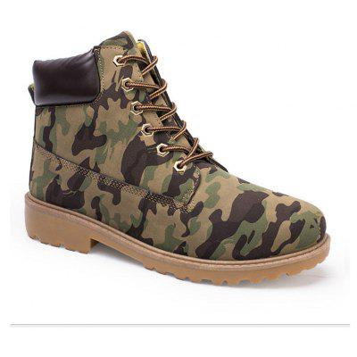 Men's Combat Style High Lace Up Casual Martin Shoes