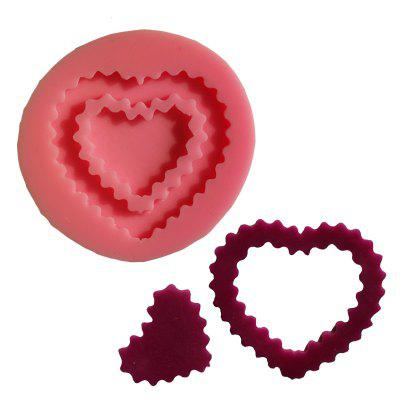 Heart Jewelry Diamonds Silicone Mold For Fondant Gift Decorations Chocolate Mould Baking Gift Decorating Tools