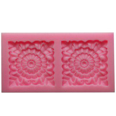 Square Rose Flower Fondant Mould Silicone Chocolate Soap Candle Mold Gift Decorating Impression Silicone Baking Pastry Tool