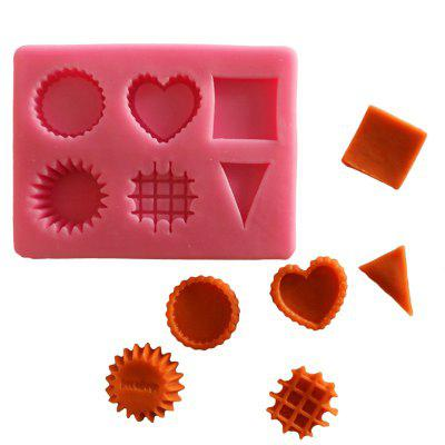 Facemile Silicone Gift Mold Heart Round Square Geometric Patterns Chocolate Gift Decoration Tools Kitchen Accessories