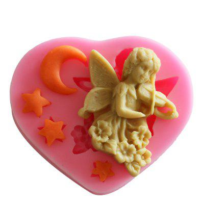 Facemile Music Angel Silicone Mold Gift Decoration Fondant Gift 3D Food Grade Silicone Mould