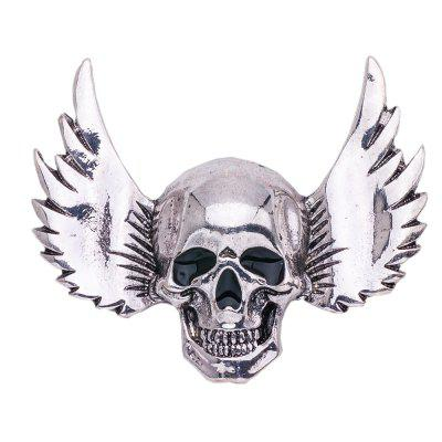 Vintage Brooch For Men Antique Silver Plated Halloween Skull Wings Brooches Pins For Women