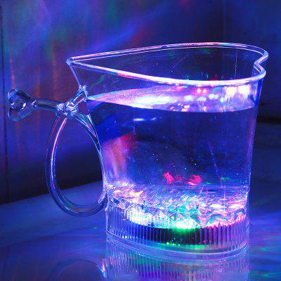Creative Heart-Shaped Color Flash Water Glass