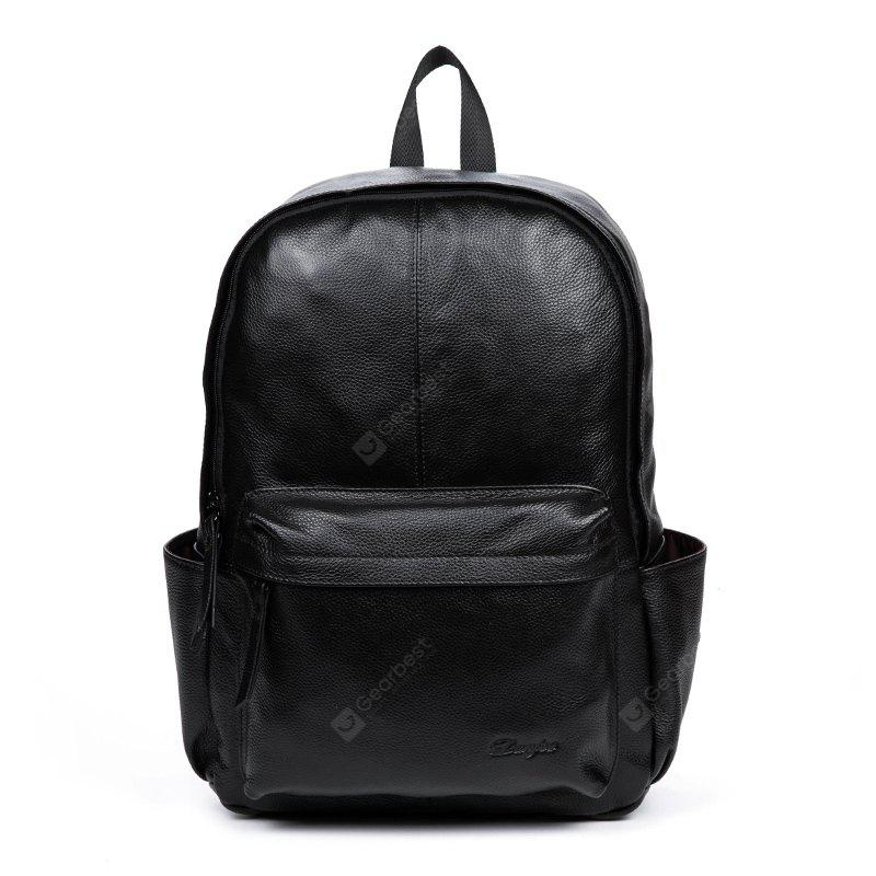 Genuine Leather Men Backpack Large Capacity Man Travel Bags ... 7f6cab4b6d