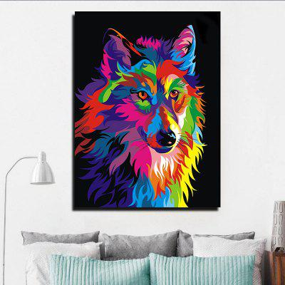 Modern Abstract Canvas Print of Wolf Frameless Home Decoration