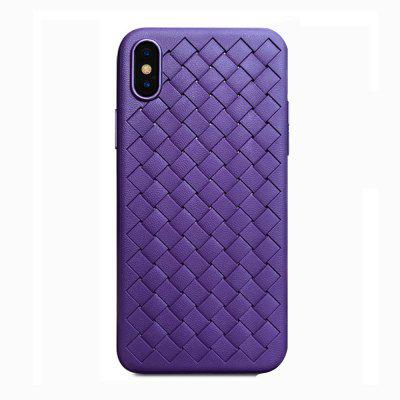 Weave Case For iPhone X LuxuryWeave Case For iPhone X  Luxury Ultra Thin Slim Back Cover Case For Capinhas Soft TPU Coqu