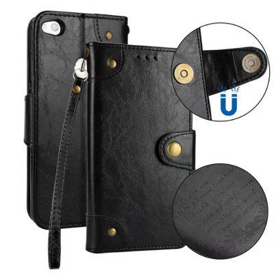 Wkae Solid Color Retro Leather Case com Multi Card Slots para Huawei P8 Lite 2017