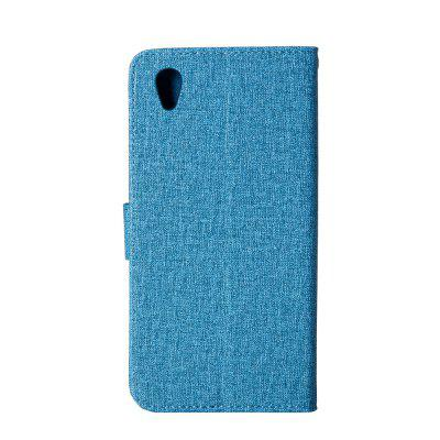 Wkae Solid Color Premium Jeans Cloth Texture Leather Pouch Case for Sony Xperia L1Cases &amp; Leather<br>Wkae Solid Color Premium Jeans Cloth Texture Leather Pouch Case for Sony Xperia L1<br><br>Compatible Model: Sony Xperia L1<br>Features: Cases with Stand, With Credit Card Holder<br>Mainly Compatible with: Sony<br>Material: TPU, PU Leather<br>Package Contents: 1 x Phone Case<br>Package size (L x W x H): 18.00 x 10.00 x 4.00 cm / 7.09 x 3.94 x 1.57 inches<br>Package weight: 0.1000 kg<br>Product weight: 0.0500 kg<br>Style: Vintage