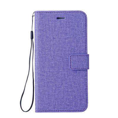 Wkae Solid Color Premium Jeans Cloth Texture Leather Pouch Case for Sony Xperia L1