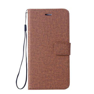 Wkae Solid Color Premium Jeans Cloth Texture Leather Pouch Case for Xiaomi 6