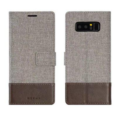MUXMA Mixed Colors Cross Lines Retro Leather Case for Samsung Galaxy Note 8