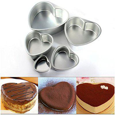 Heart Shape Bakeware Cake Pan 5pcs Set with Removable Bottom- Include 3 Inches 5 Inches 6 Inches 8 Inches 10 InchesCake Molds<br>Heart Shape Bakeware Cake Pan 5pcs Set with Removable Bottom- Include 3 Inches 5 Inches 6 Inches 8 Inches 10 Inches<br><br>Available Color: White<br>Material: Aluminum Alloy<br>Package Contents: 1 X 3 Inches Cake Pan,  Cake Pan, 1 X 5 Inches Cake Pan, 1 X 6 Inches Cake Pan, 1 X 8 Inches Cake Pan, 1 X 10 Inches Cake Pan<br>Package size (L x W x H): 25.00 x 23.00 x 8.00 cm / 9.84 x 9.06 x 3.15 inches<br>Package weight: 0.7000 kg<br>Type: Bakeware