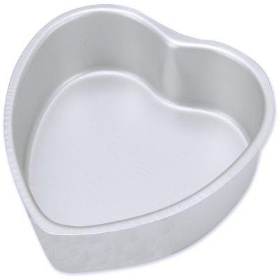 Aluminium Heart Shaped Bakeware Cake Pan with Removable Bottom 6 Inches