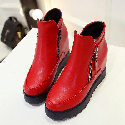 LYK-C21 High Quality Shoe Comfort Fashion Side Zipper Pure Color Inside Increase Short Tube with Martin BootsWomens Boots<br>LYK-C21 High Quality Shoe Comfort Fashion Side Zipper Pure Color Inside Increase Short Tube with Martin Boots<br><br>Boot Height: Ankle<br>Boot Type: Fashion Boots<br>Closure Type: Zip<br>Gender: For Women<br>Heel Type: Increased Internal<br>Package Contents: 1x Shoes(pair)<br>Pattern Type: Solid<br>Season: Spring/Fall<br>Toe Shape: Round Toe<br>Upper Material: PU<br>Weight: 1.2800kg