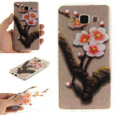 The Four Plum Flower Soft Clear IMD TPU Phone Casing Mobile Smartphone Cover Shell Case for Samsung A5 2015