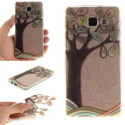 Hand Draw A Tree Soft Clear IMD TPU Phone Casing Mobile Smartphone Cover Shell Case for Samsung A5 2015