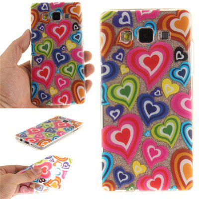 Color of Love Soft Clear IMD TPU Phone Casing Estojo de capa móvel Smart Shell para Samsung A5 2015