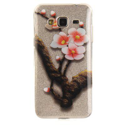 The Four Plum Flower Soft Clear IMD TPU Phone Casing Mobile Smartphone Cover Shell Case para Samsung J3 J310