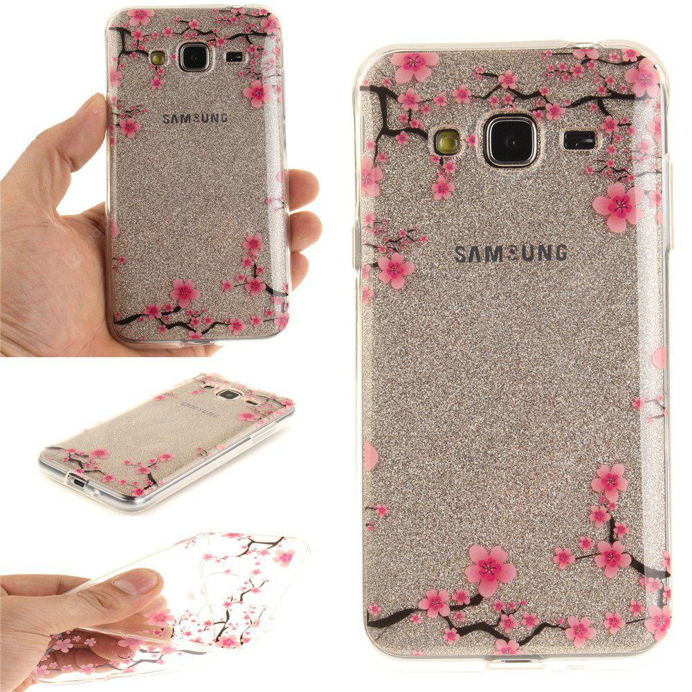 Up and Down The Plum Blossom Soft Clear IMD TPU Phone Casing Mobile Smartphone Cover Shell Case for Samsung J3 J310