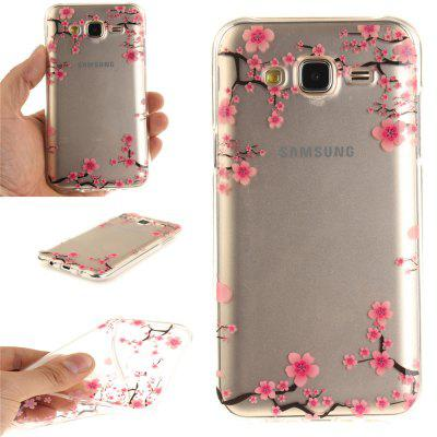 Para cima e para baixo The Plum Blossom Soft Clear IMD TPU Phone Casing Mobile Smartphone Cover Shell Case para Samsung J5 2015