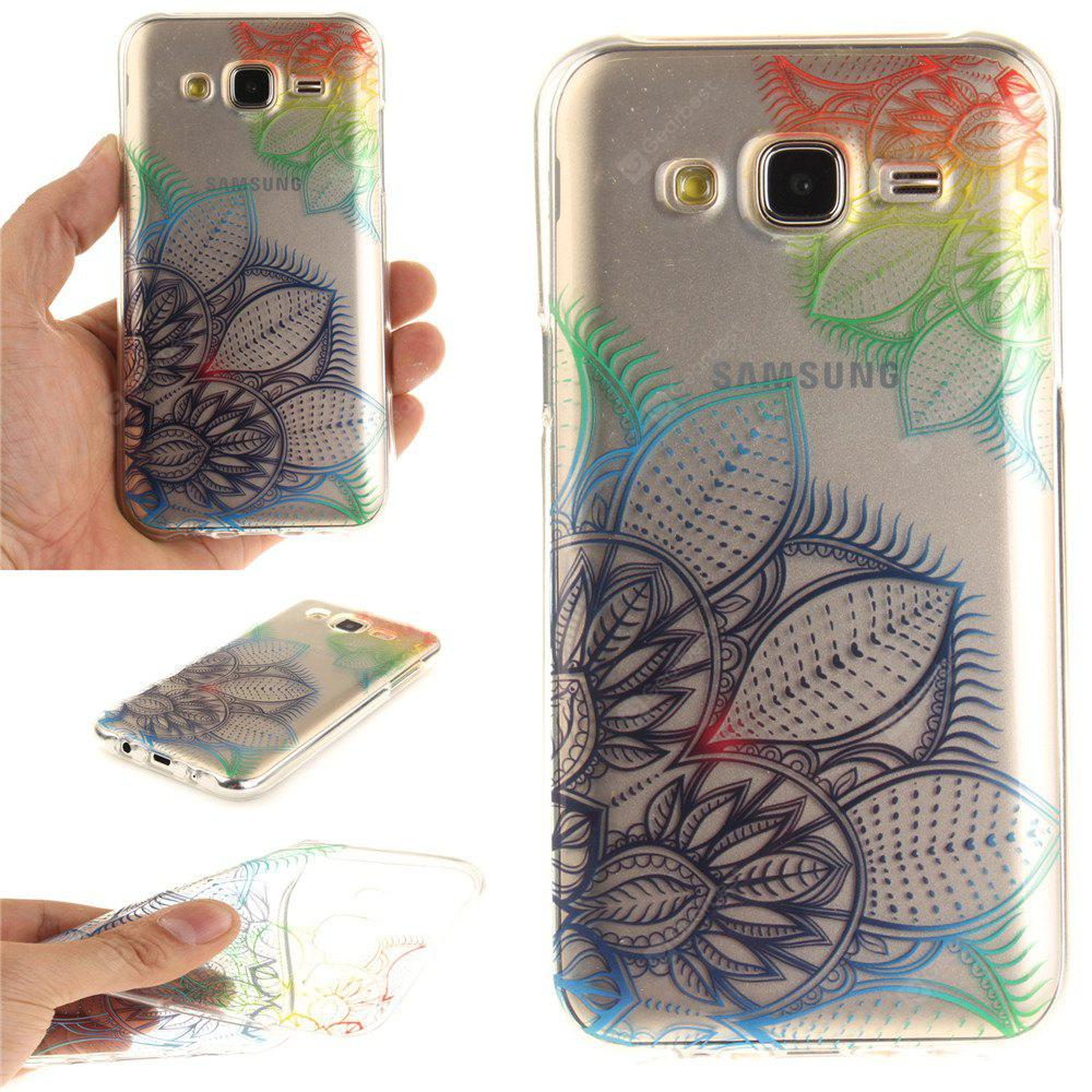 Fantasy Flowers Soft Clear IMD TPU Phone Casing Estojo de capa móvel Mobile Shell para Samsung J5 2015