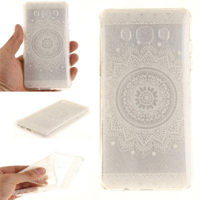 The White Mandala Soft Clear IMD TPU Phone Casing Mobile Smartphone Cover Shell Case for Samsung J510 2016