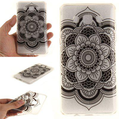 Black Sunflower Soft Clear IMD TPU Phone Casing Mobile Smartphone Cover Shell Case for Samsung J510 2016