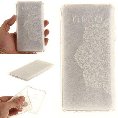 Half of White Flowers Soft Clear IMD TPU Phone Casing Mobile Smartphone Cover Shell Case for Samsung J510 2016