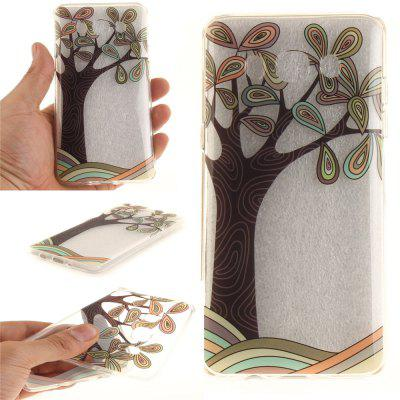 Hand Draw A Tree Flowers Soft Clear IMD TPU Phone Casing Mobile Smartphone Cover Shell Case for Samsung J510 2016