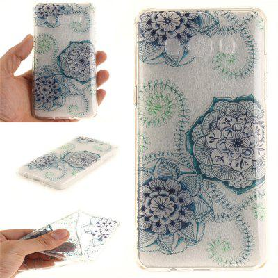 Blue Green Dream Flower Soft Clear IMD TPU Phone Casing Mobile Smartphone Cover Shell Case for Samsung J510 2016