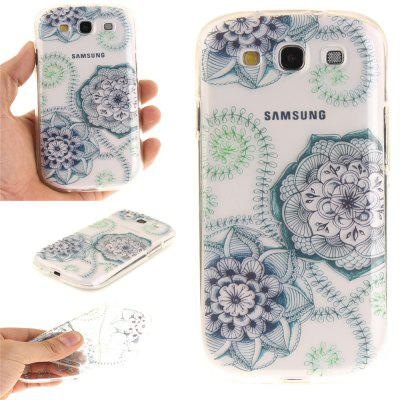 Blue Green Dream Flower Soft Clear IMD TPU Phone Casing Mobile Smartphone Cover Shell Case for Samsung S3 I9300