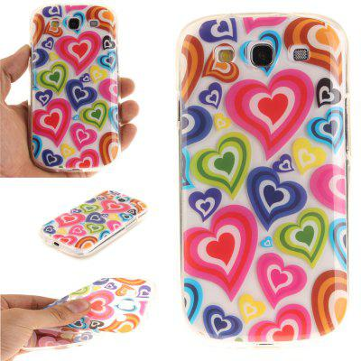 Color of Love Soft Clear IMD TPU Phone Casing Mobile Smartphone Cover Shell Case for Samsung S3 I9300