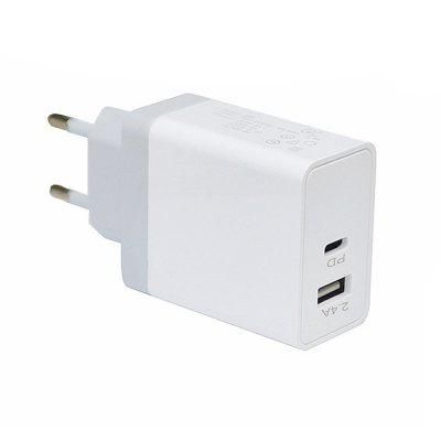 Minismile 30W Quick Charge QC3.0 Dual Port Type-C PD Port Power Charger Adapter