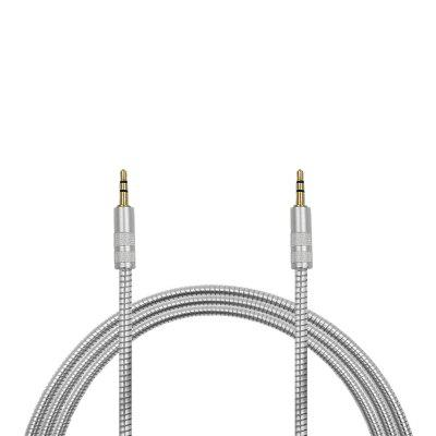 Minismile 1m Stainless Steel Spring 3.5mm Male to 3.5mm Male AUX Audio Transmission Cable